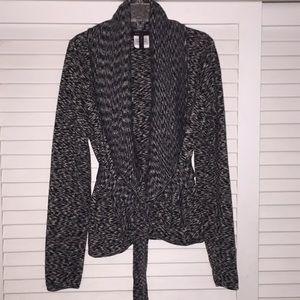 BCBG MAXAZRIA wrap cardigan 100% merino wool